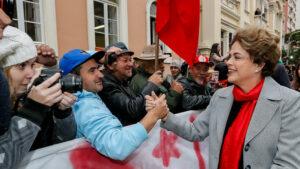 Protesto em solidariedade a Dilma Rousseff contra o impeachment